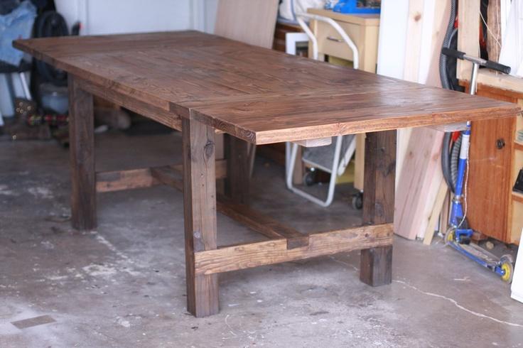 Expandable Farmhouse Table 64x38 Expandable To 102x38