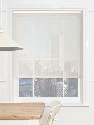 Optic Linen Magic Screen Roller Blind From Blinds 2go French Doors Pinterest Net Curtains