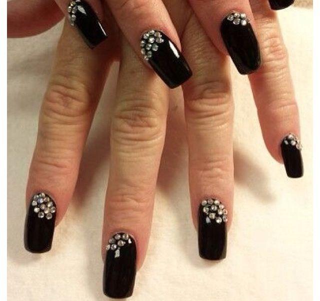 So Pretty Nails Nail Art Nailart Black Long Nails