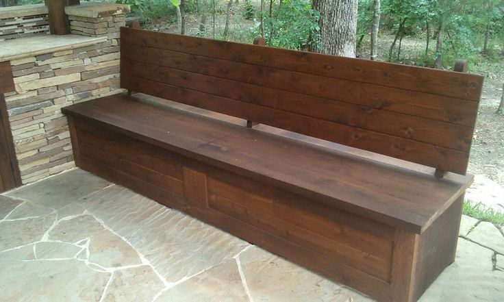 Piano Hinged Bench Seat For Storage Outdoor Kitchens