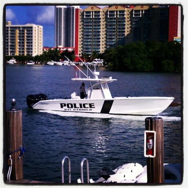 Bal Harbour Police Boat, Florida