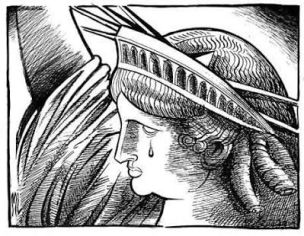Image result for picture of statue of liberty crying