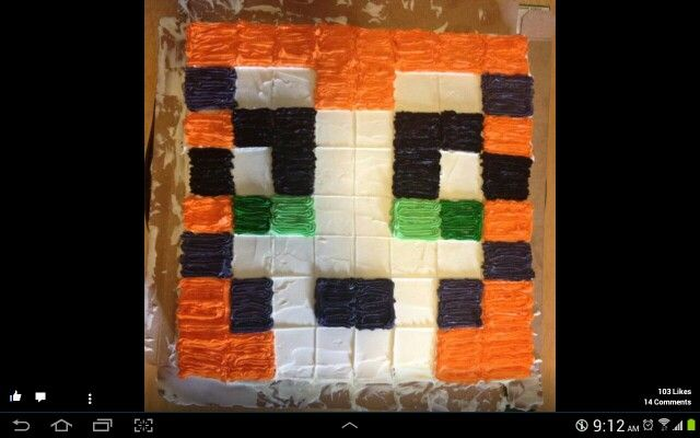 Stampy Cat Grid Cake Looks Easy Enough Stampy