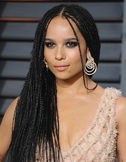 Take a tip from Zoe Kravitz and wear your hair in micro braids paired with a charcoal eye for the ultimate prom dancing 'do
