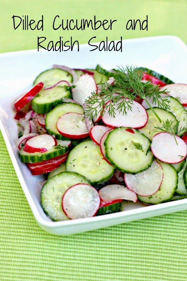 Dilled Cucumber and Radish