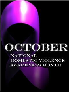 domestic violence ribbon | Black and Blue and PURPLE: