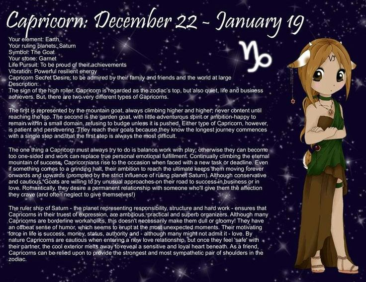 Capricorn / December 22 January 19 Awesome Astrology