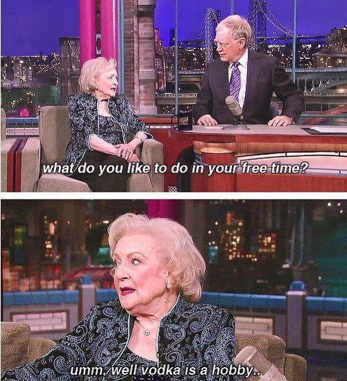 oh Betty…you always make me smile!
