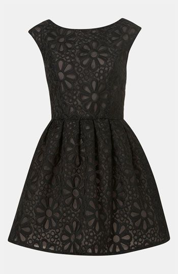 Topshop Embroidered Organza Party Dress