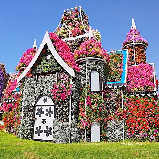 Flower house in Dubai Miracle Garden U.A.E Picture by