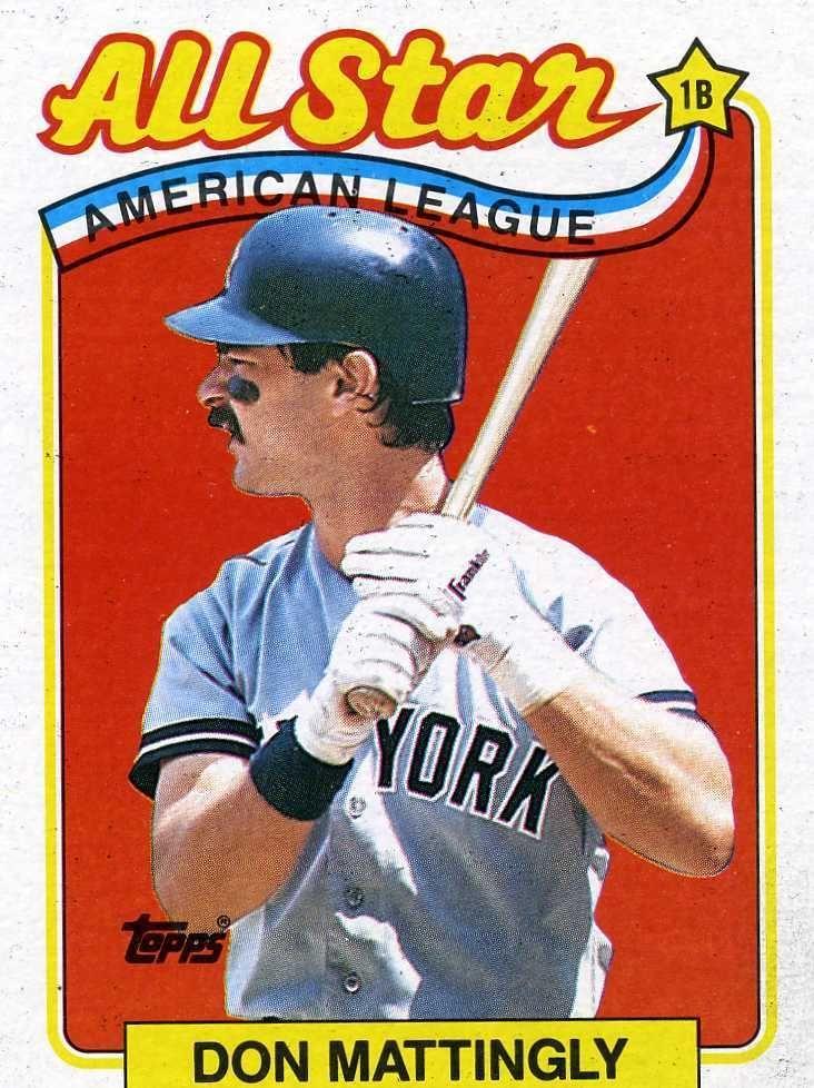 RARE 1989 TOPPS ALL STAR DON MATTINGLY NEW YORK YANKEES