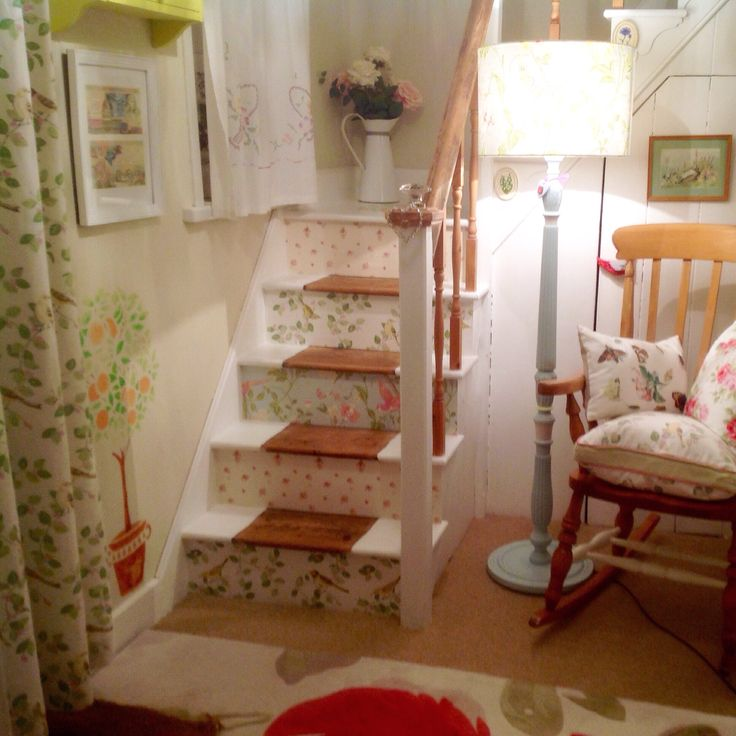My Stairs Wallpapered In Laura Ashley Prints Abbeville