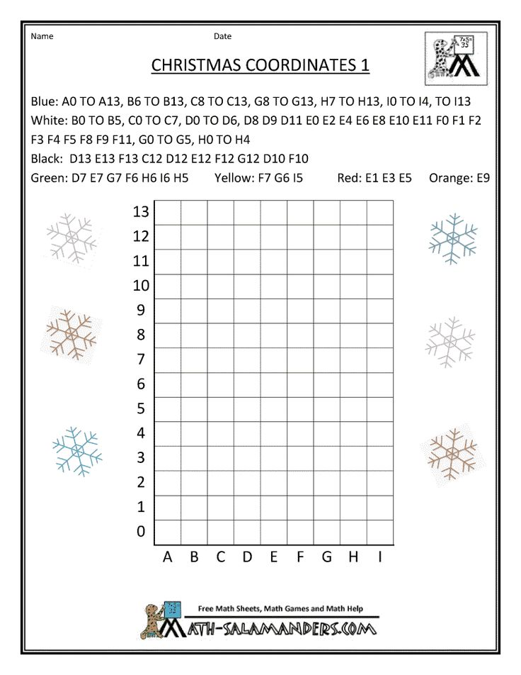 christmas fun math coordinates 1 Christmas in the