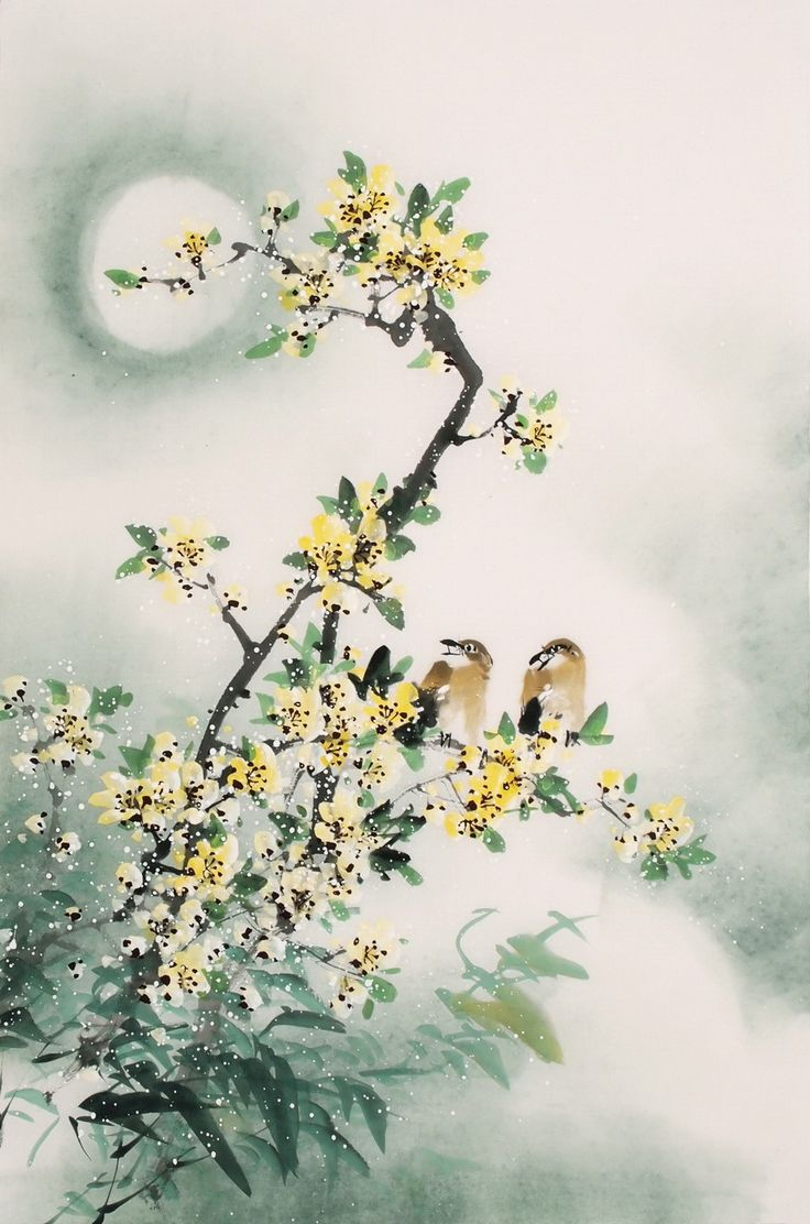 Chinese Peach Blossom Paintings CHINESE PAINTINGBIRDS