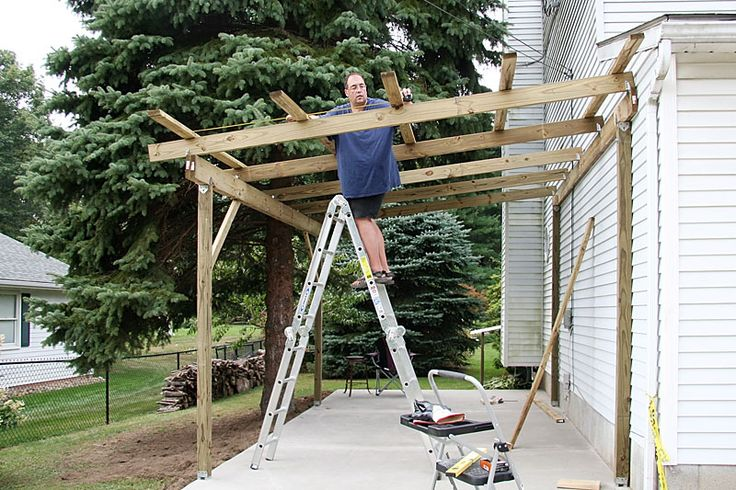 How to Build a Timber Lean to Carport house Pinterest