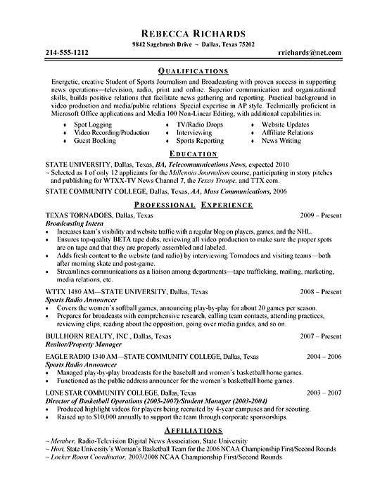 Sports Marketing Intern Resume. Facility Manager Resume Samples