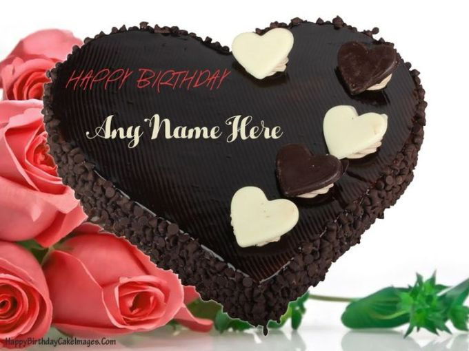 Happy Birthday Chocolate Cake With Name Edit Feat Images