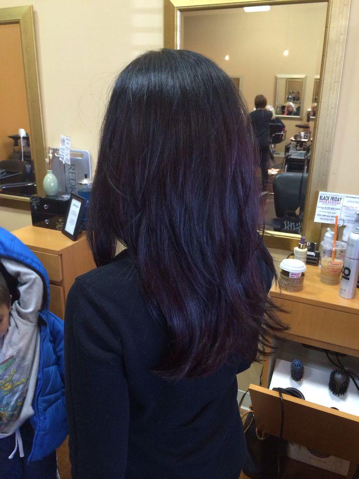 25 Best Ideas About Dark Purple Hair On Pinterest Dark