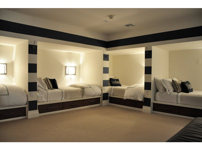 Spacious Basement Bunk Room Good For People To Stay The