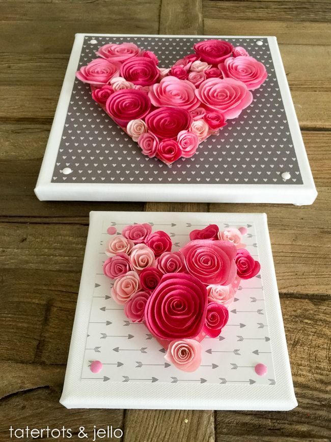 Easy 10Minute Valentine's Day Wall Art [and free