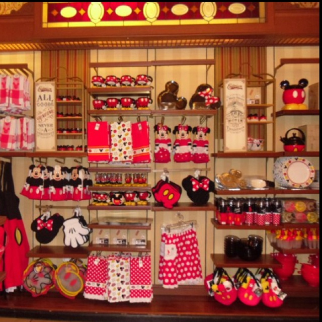 I want a mickey mouse kitchen! Guess what I'm doing next