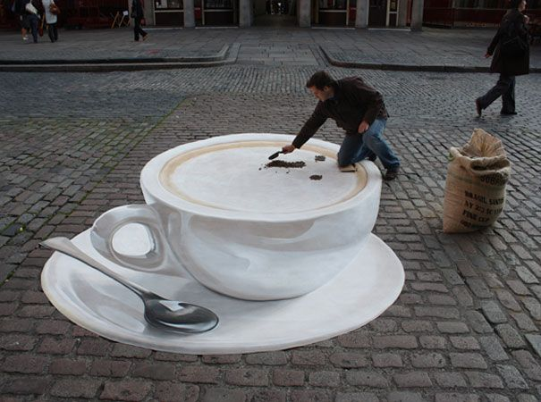 Manfred Stader began street paintin