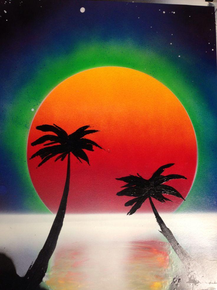 Florida sunset spray paint art | My Random Assortment ...