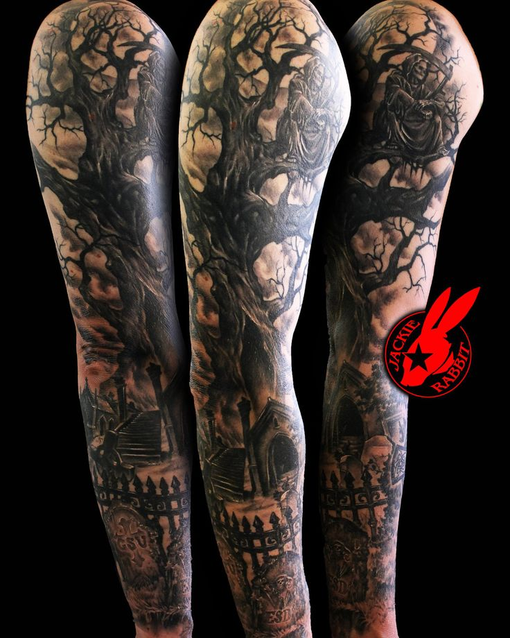 Reaper tree Graveyard Sleeve by Jackie Rabbit by