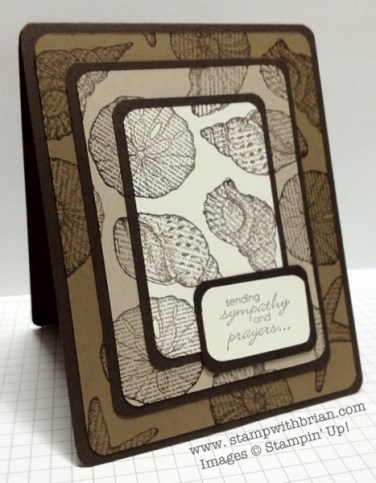 By the Seashore, Petite Pairs, 3/16″ Corner punch, Stampin' Up!, Sympathy card, Triple Time Stamping