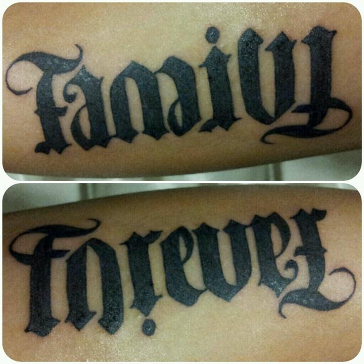 Family forever ambigram xxDye Tattoo Pinterest