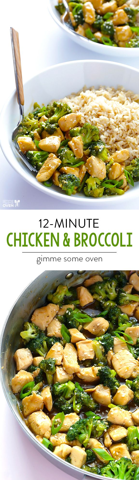 12-Minute Chicken & Broccoli — quick and easy to prepare, and perfect when served over rice or quinoa or just plain!