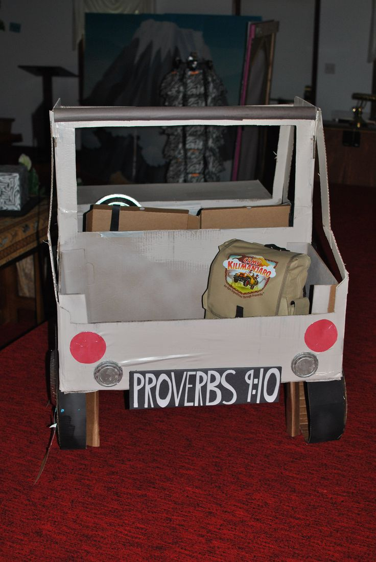 Camp Kilimanjaro Jeep Made From Cardboard Boxes Vbs