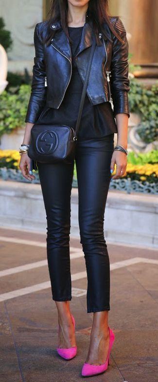 All black: