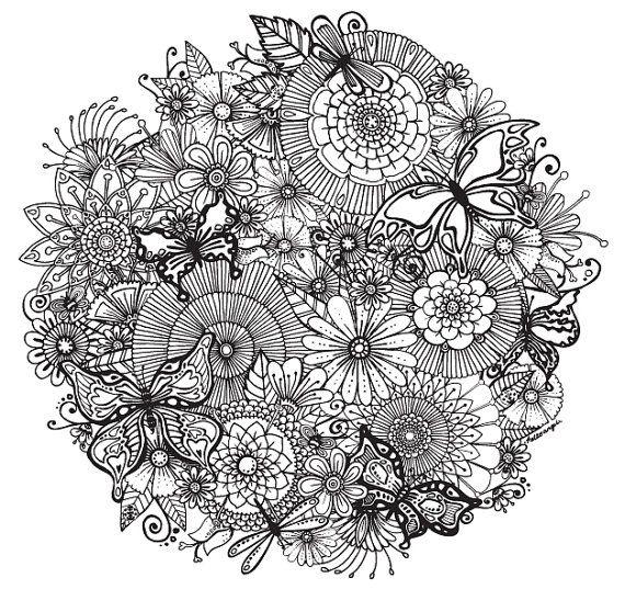 floral flitter orb an intricate and super duper detailed illustration