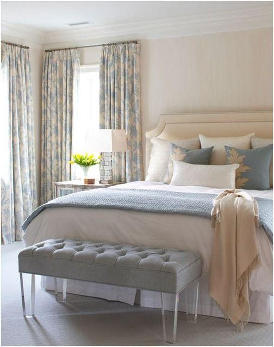 Bedroom Curtains cream bedroom curtains : Light Blue And Cream Bedroom Ideas - Bedroom Style Ideas