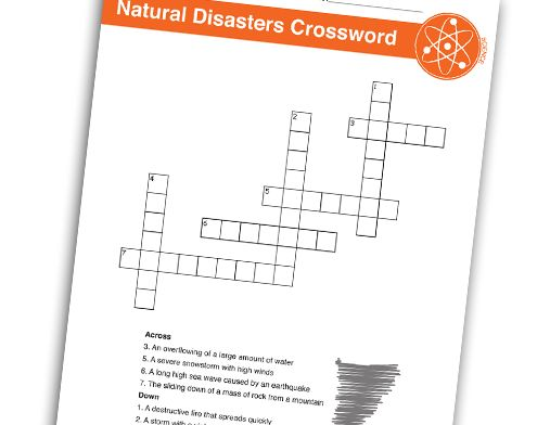 Natural Disasters Crossword Puzzle