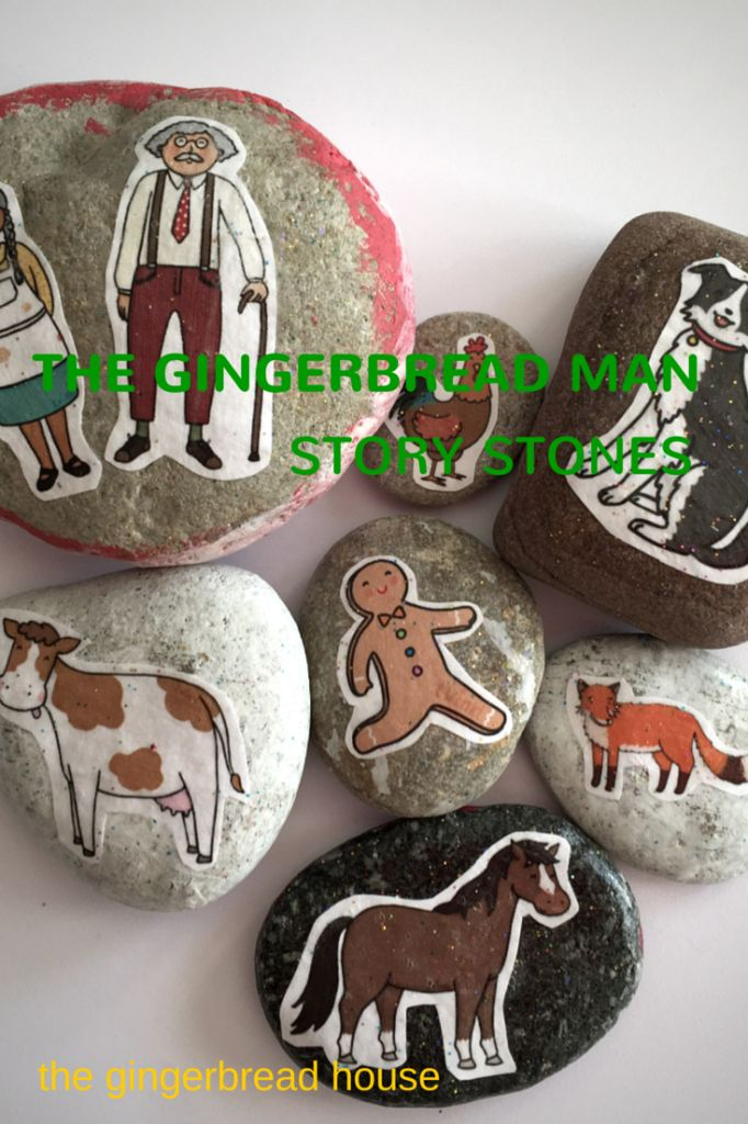 How to make The Gingerbread Man story stones