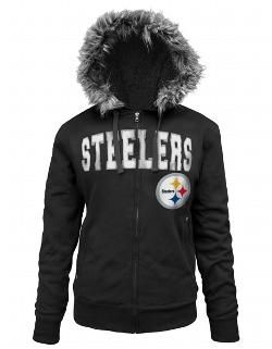 Pittsburgh Steelers Womens Full Zip Sherpa Black Fleece – Official Online Store