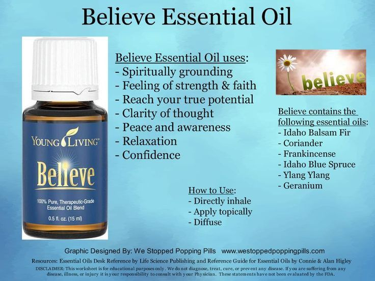 Believe Essential Oil Youngliving Oilyfamilies
