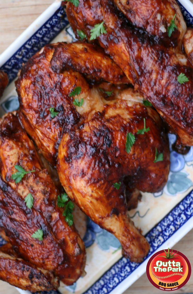 This recipe for Oven Baked BBQ Chicken works beautifully ...