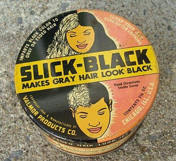 Valmor Slick Black Hair Color Tin 30s Vintage Tins