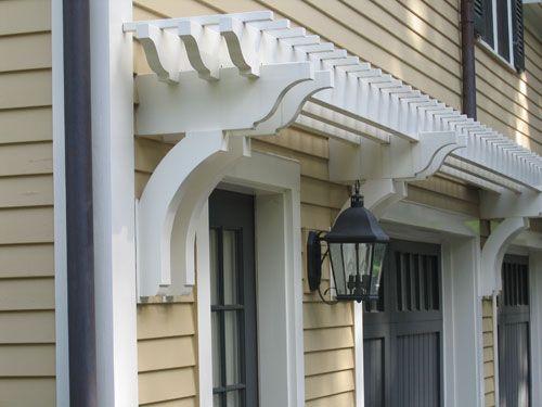 Over Garage Or Deck Door Shallow Pergola Adds Visual