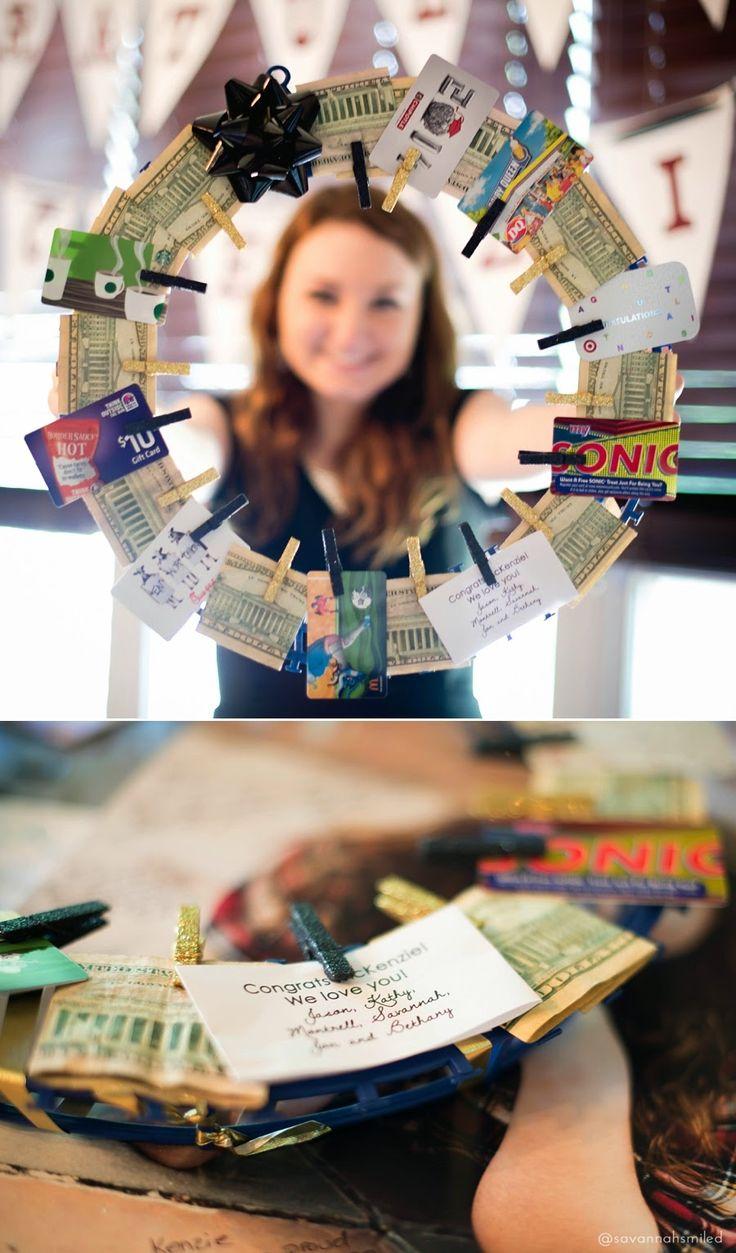 High school graduation moneywreath gift. gifts + wrap