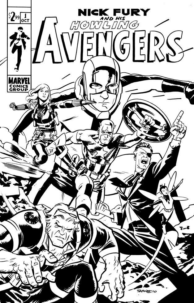 nick fury avengers coloring pages howling avengers herois em