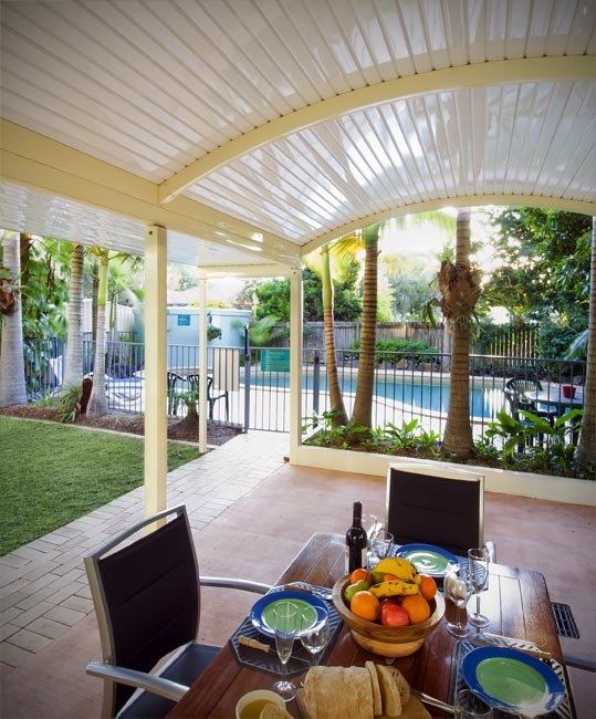 Stratco Outback Curved Roof Awnings, Carports, Pergolas