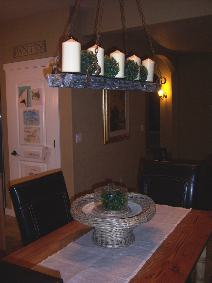 Kitchen Nook With Candle Chandelier Httplittlebrags