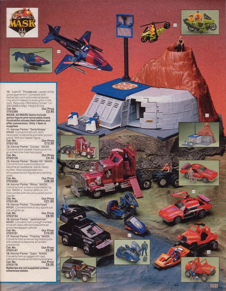 masktoys 1985 Christmas Catalog ad for the first series