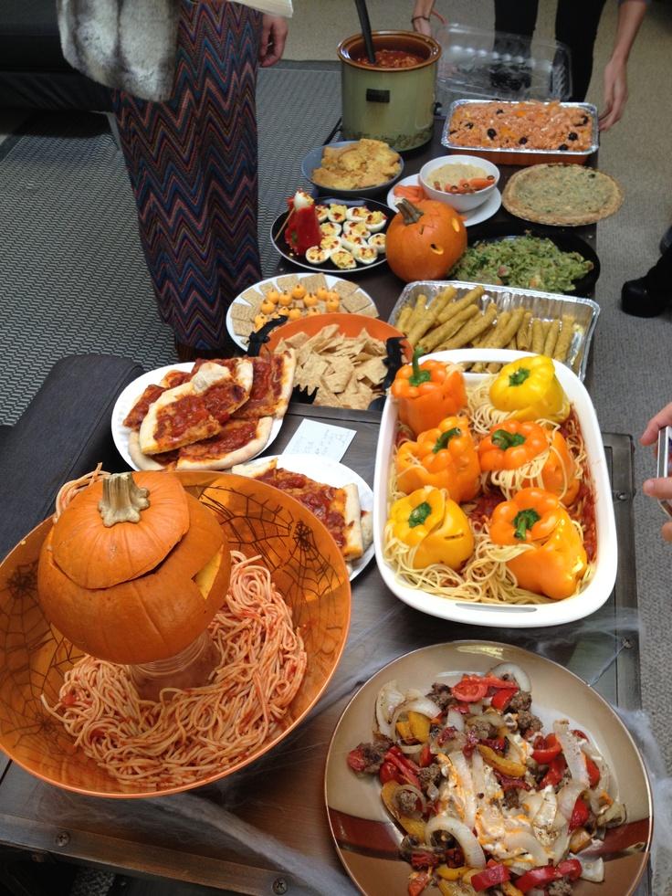 Halloween themed office potluck Office Potluck