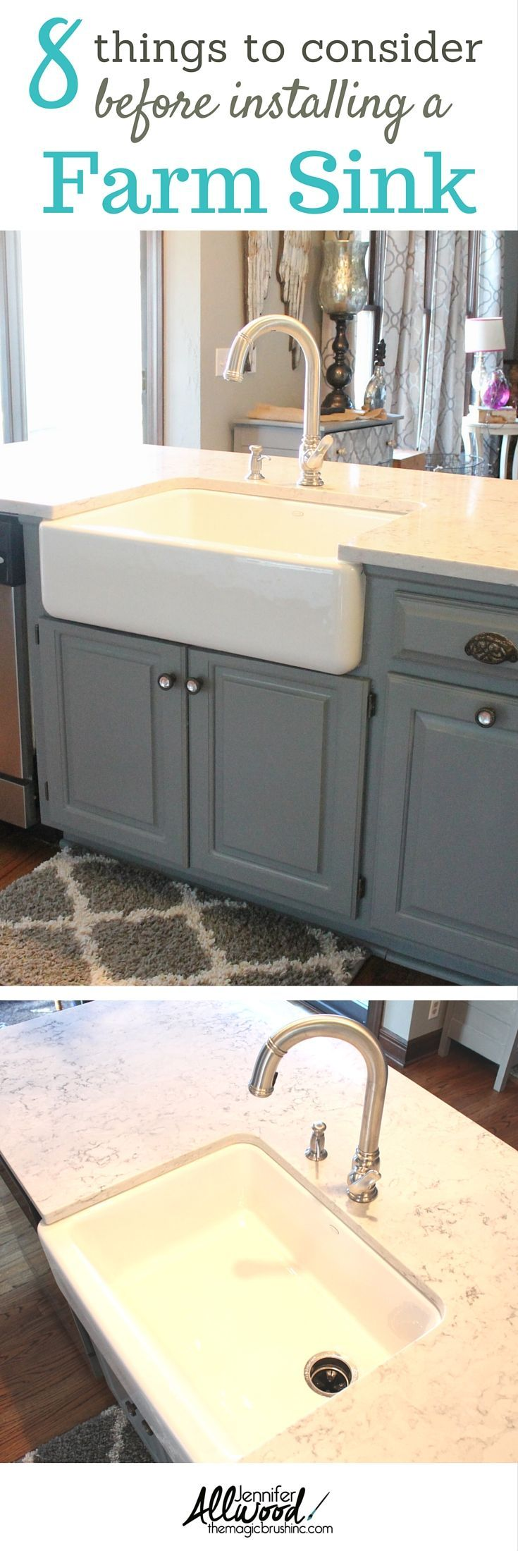 Farmhouse sink tips for your kitchen installation We