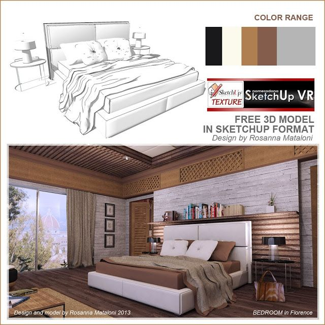 SKETCHUP TEXTURE: 3D MODEL DOUBLE BED #7 | FREE SKETCHUP ...